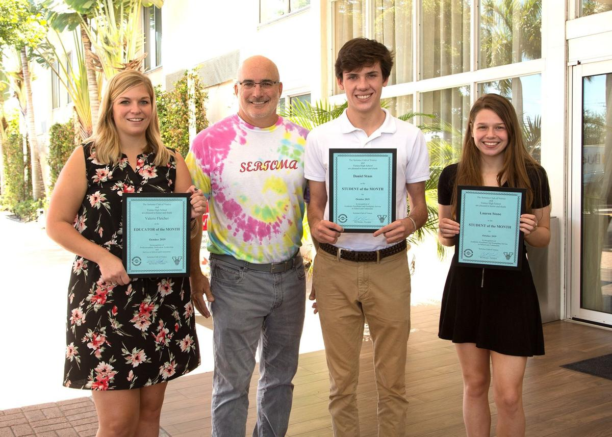 Teacher and two students honored by Sertoma