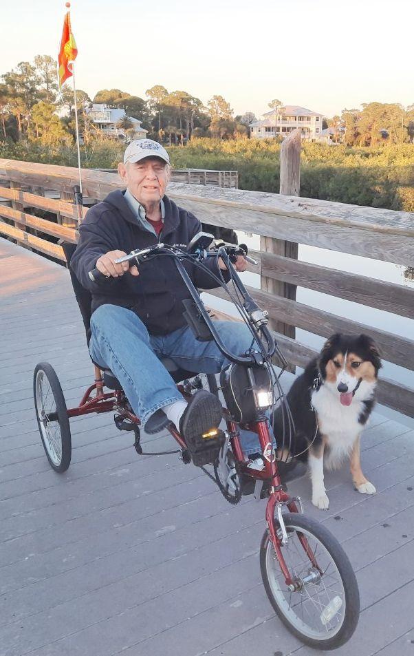 Sandy Bilsky and his dog Yogi