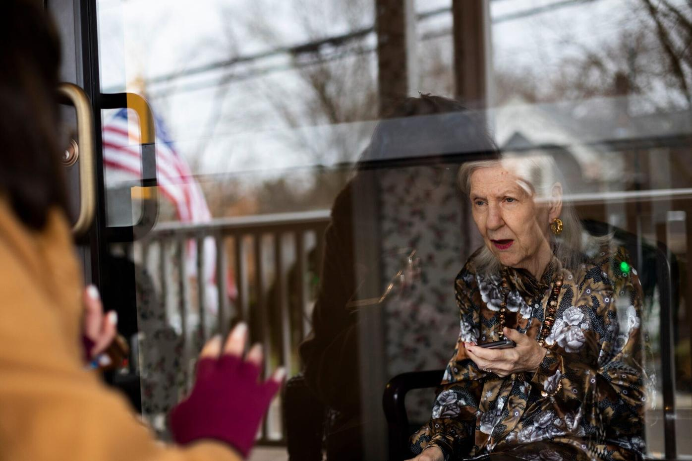 Visiting mom through glass was supposed to be temporary. Now it feels endless