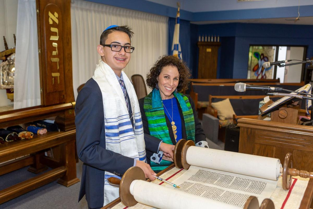 Aiden Nisberg celebrates bar mitzvah