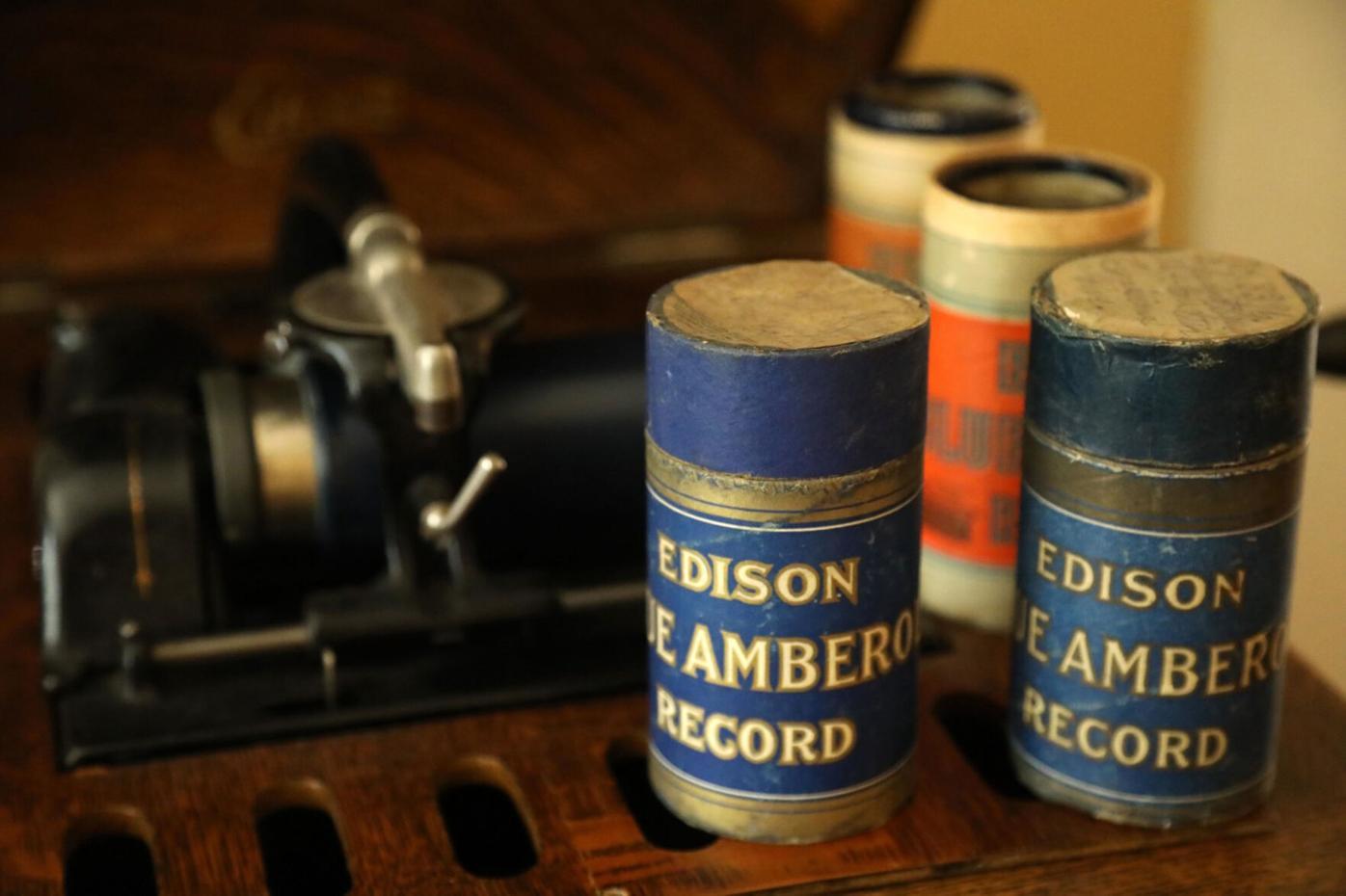 Edison Blue Amberol cylinder records