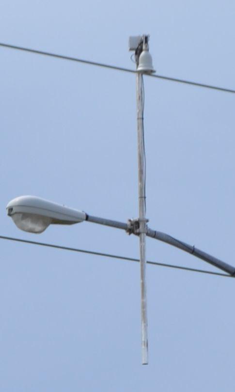 Close-up of the sensor