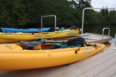 kayaks at Sen. Bob Johnson's Landing