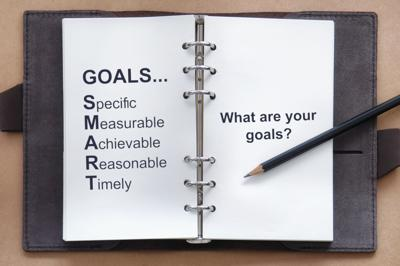 Setting goals to relieve stress