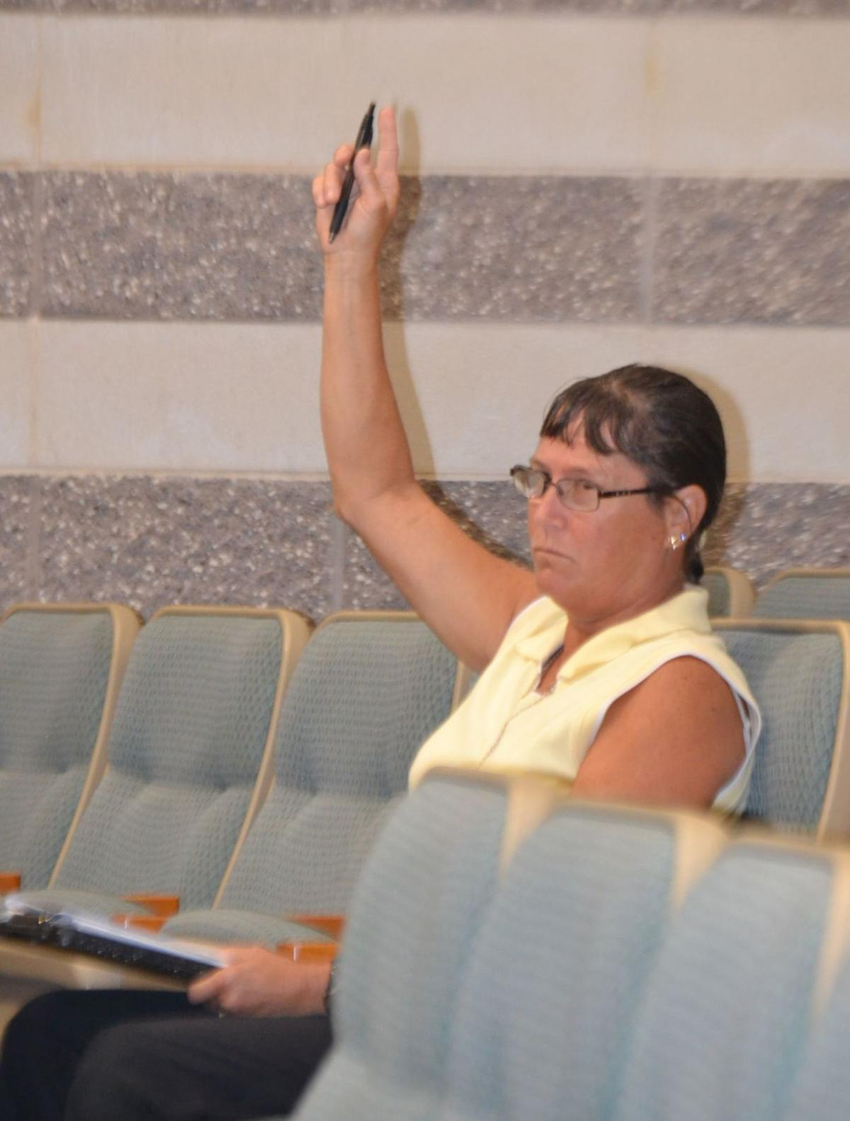 Beth Degnan at the April 16 County Commission meeting