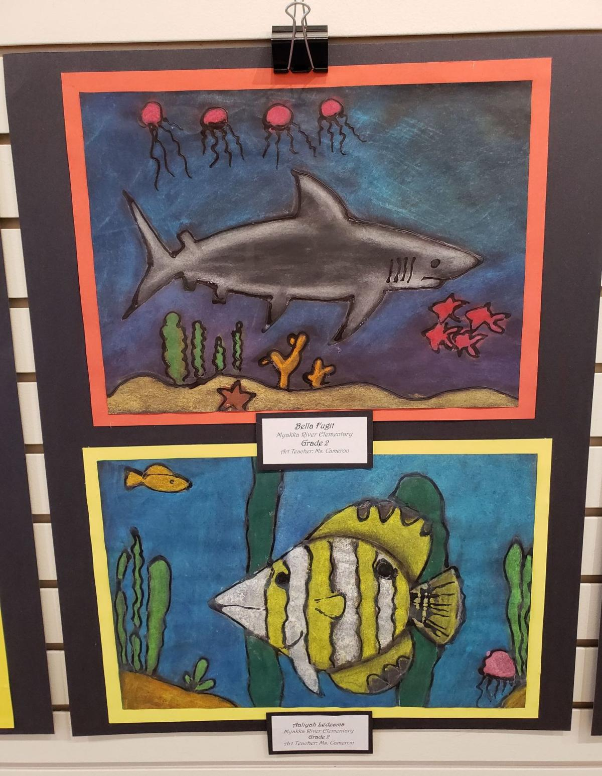 Charlotte County Public School Art Display at Visual Arts Center