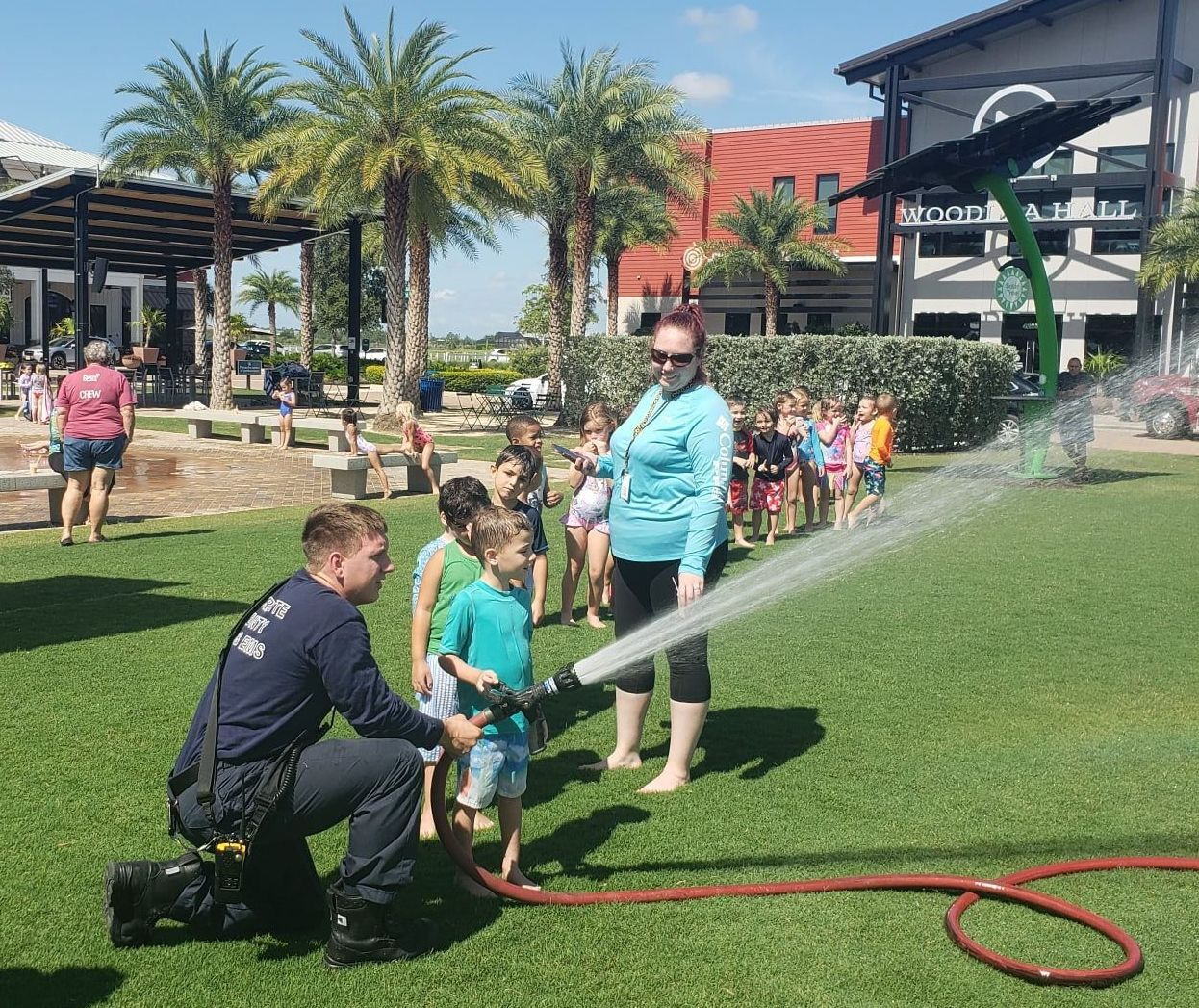 Charlotte County firefighters save Babcock Ranch water day