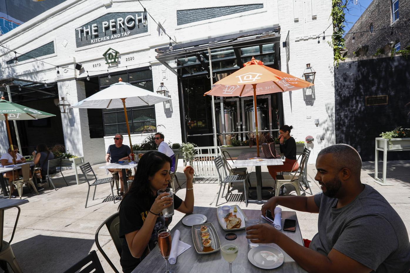 The Perch Kitchen and Tap patio