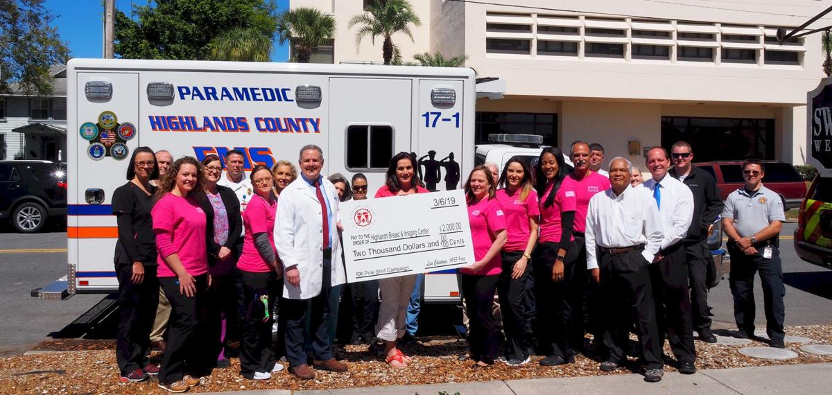 Highlands Fire & EMS Foundation donates check to Highlands Breast & Imaging Center