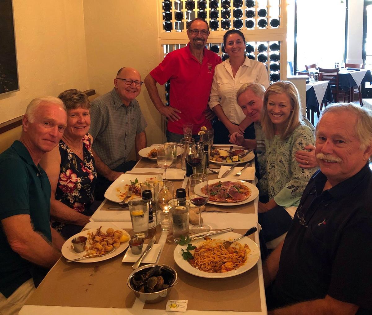 The Twilight Sailors gather at local restaurants