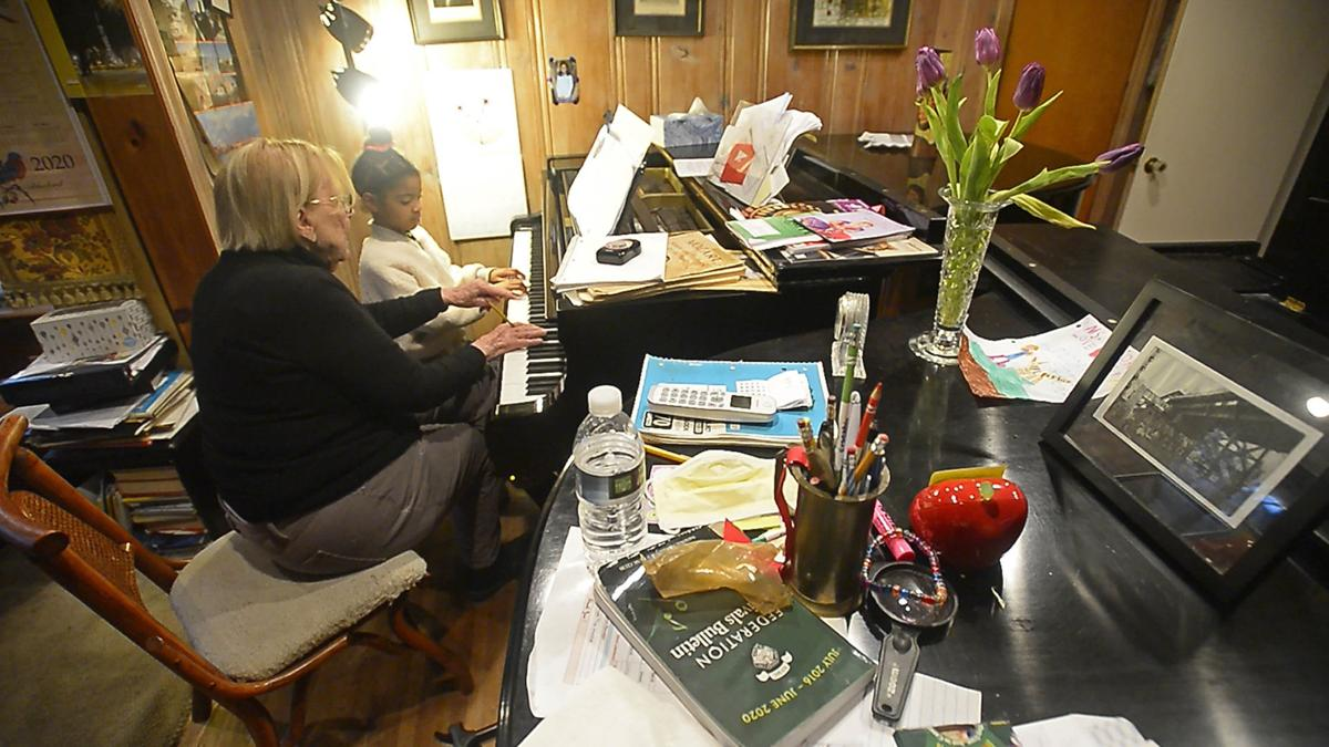 At 92, beloved piano teacher has no plans to slow down, even in a pandemic