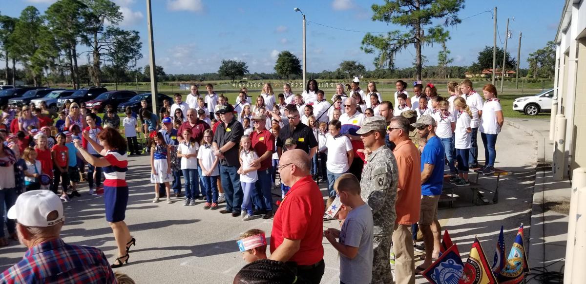 Cracker Trail Elementary Veterans Day celebration