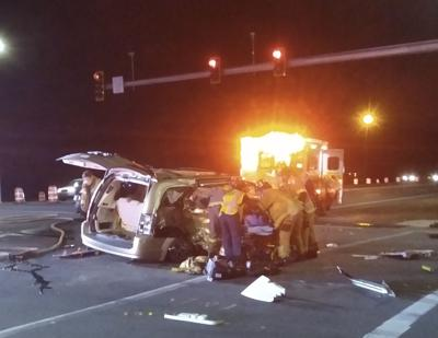 Crash at State Road 776 and Coliseum in Englewood on Sunday night.