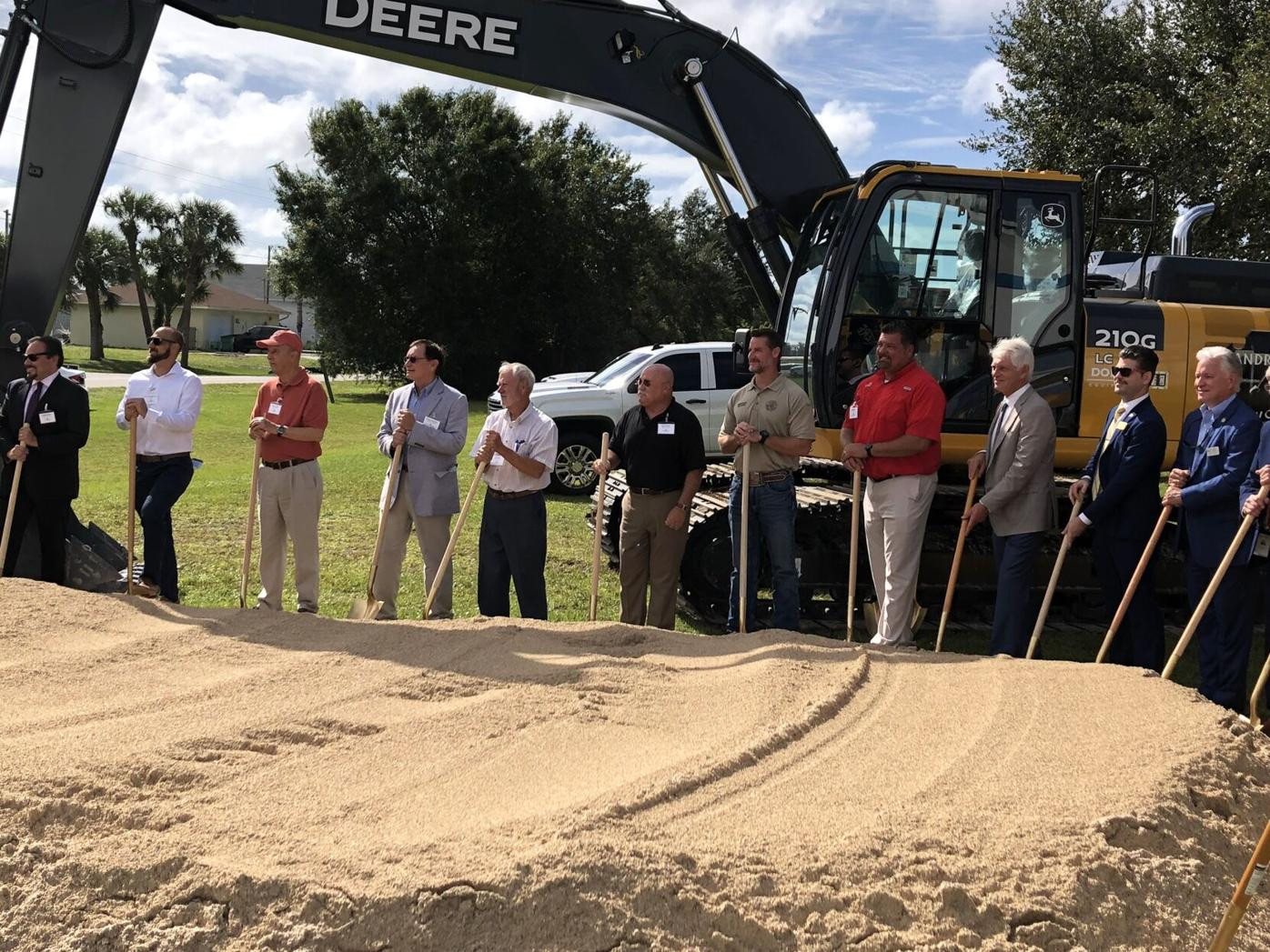 Ground breaking for Charlotte Harbor Water Association