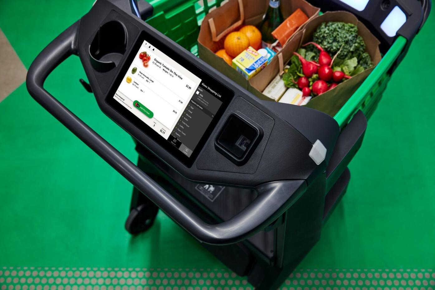 Sensor-equipped shopping cart
