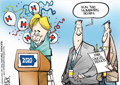 POLITICAL CARTOON: Run the numbers again By Kirk