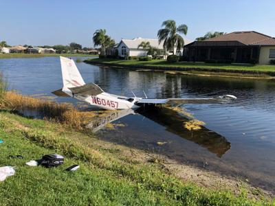 Plane crashes in Venice