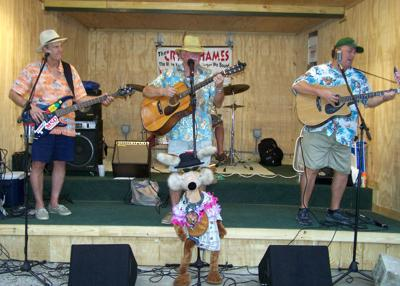 The Cry'n Shames delight the crowd at Snook Haven