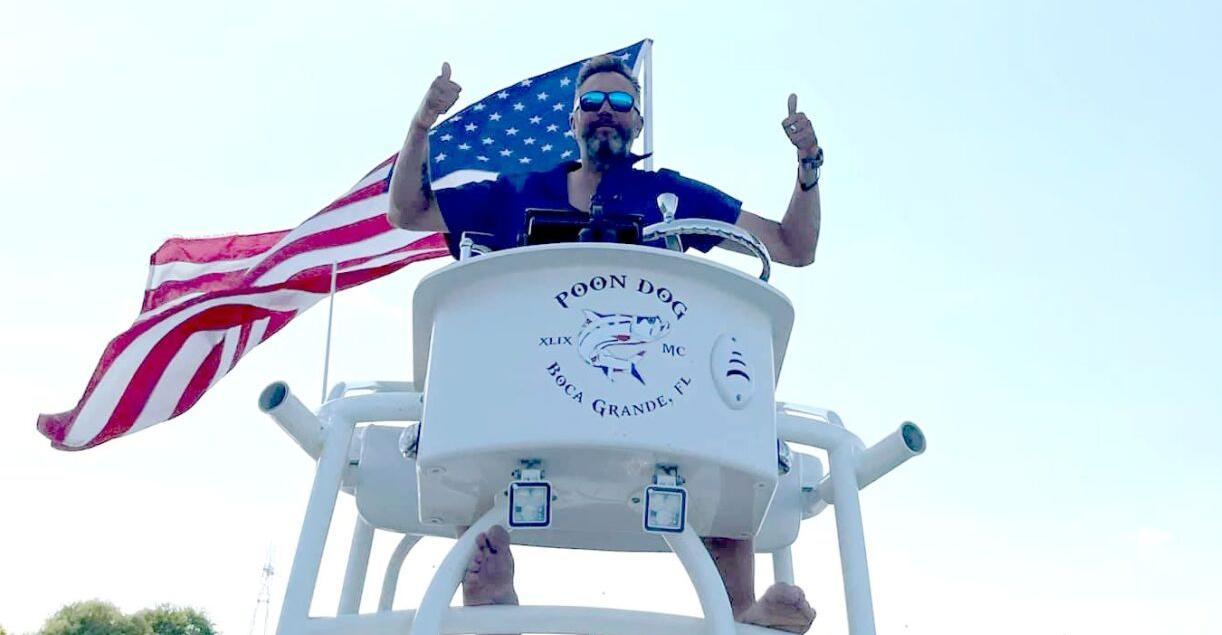 Scott Ritter on a boat