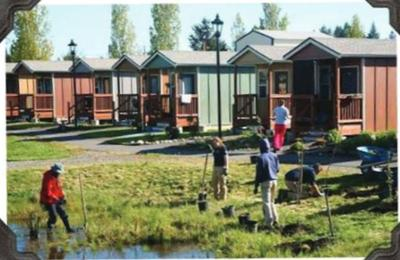 A community of tiny homes