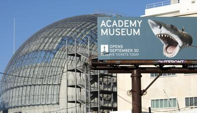 Outside the Academy Museum of Motion Pictures