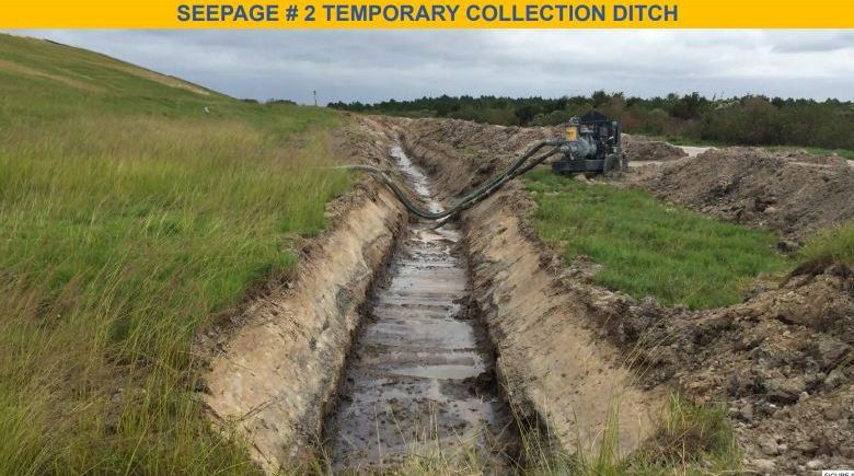 Mosaic leak storage ditch