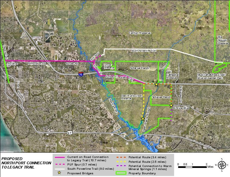 North Port Legacy Trail Connector map