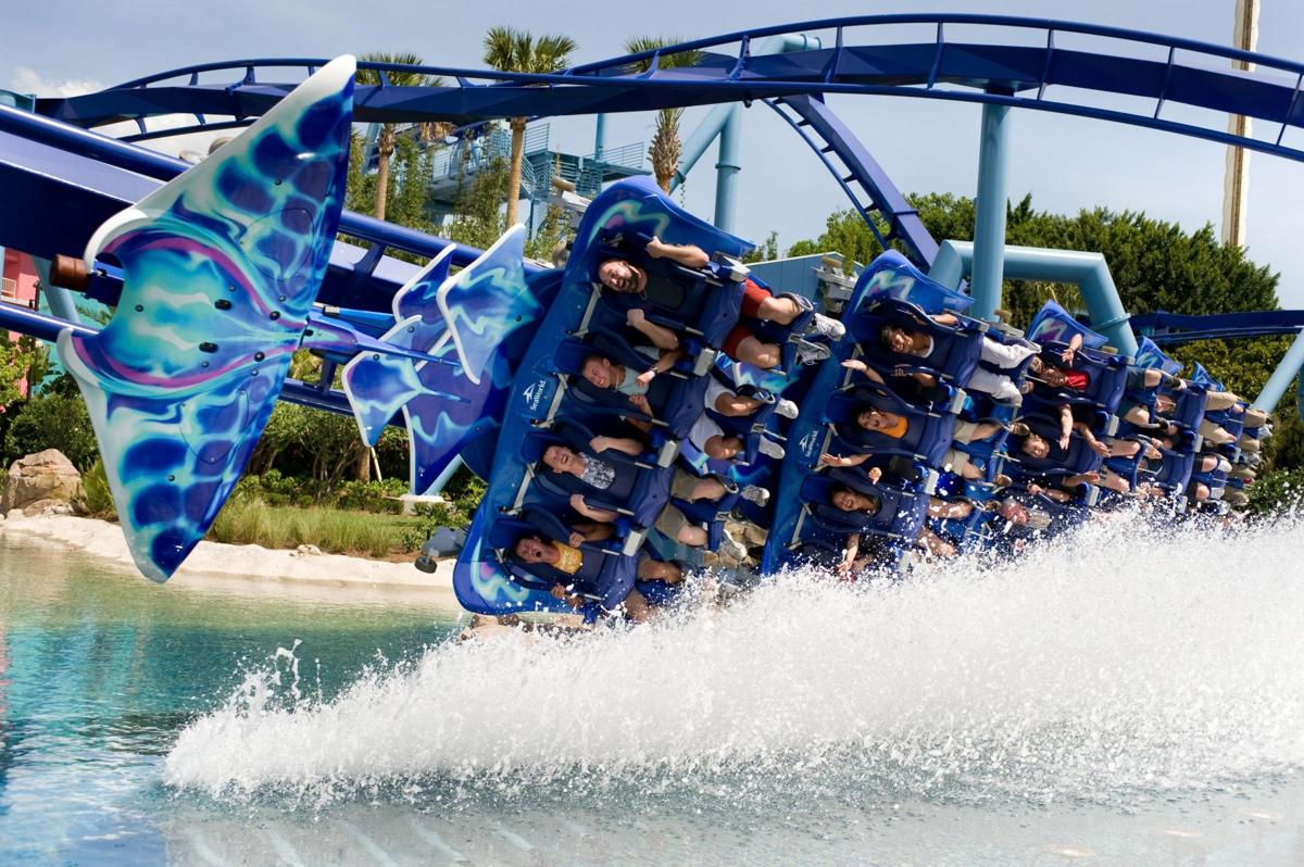 The Manta roller coaster at SeaWorld Orlando