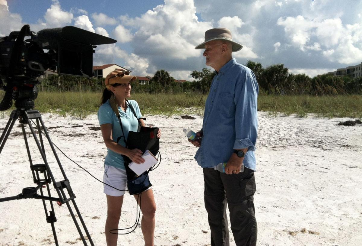 Jack Perkins on location for A Gulf Coast Journal