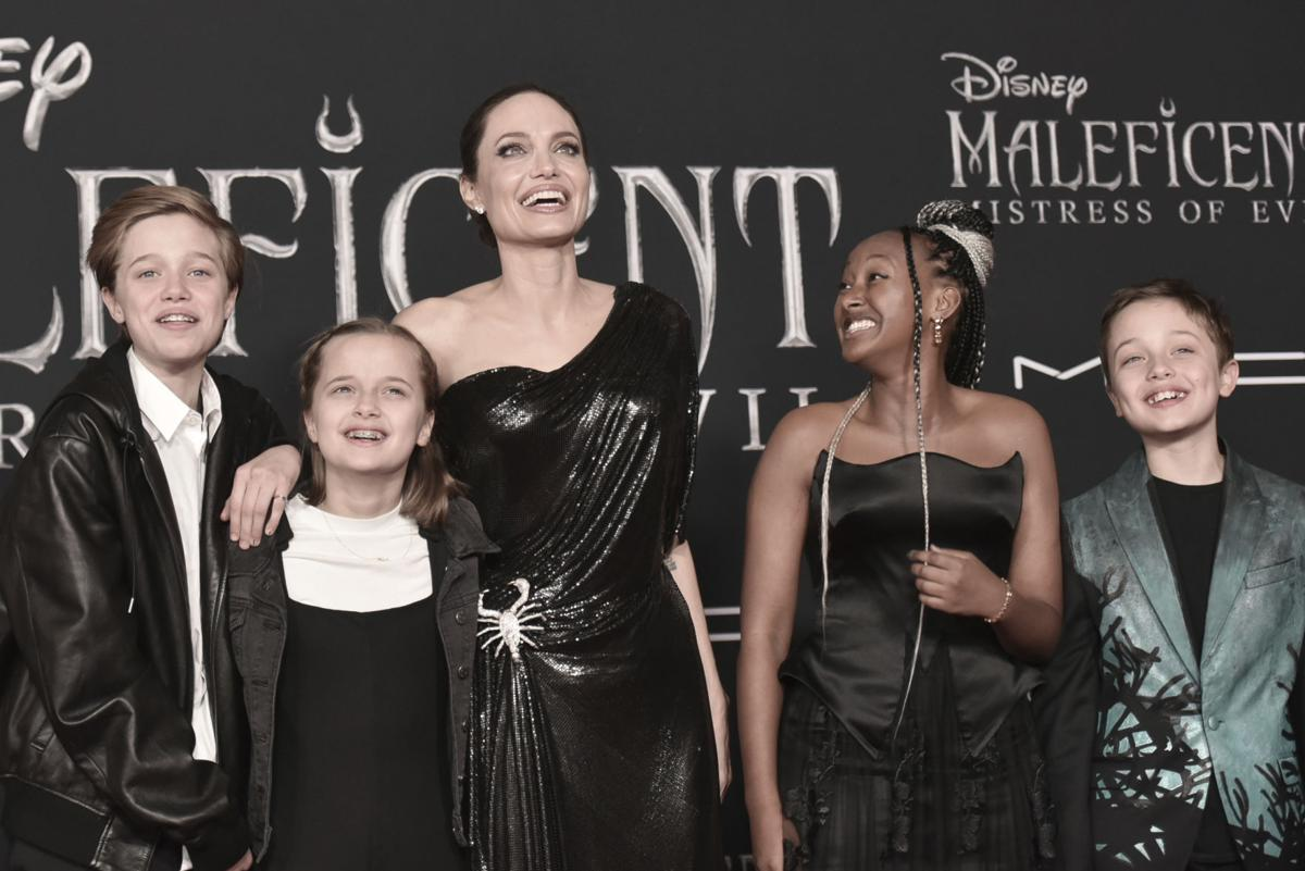 """Angelina Jolie and family at World Premiere of """"Maleficent: Mistress of Evil"""""""