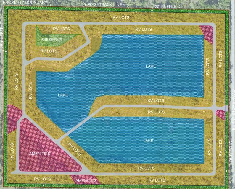 RV park layout on Burnt Store Road