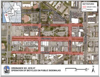 Downtown ban on bike riding on sidewalks