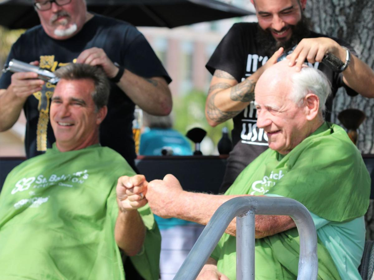 Going bald for a great cause