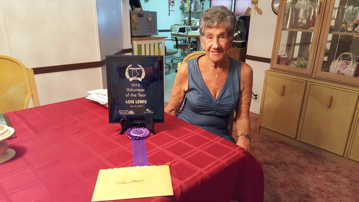 Lois Lewis Volunteer of the Year 2018 B