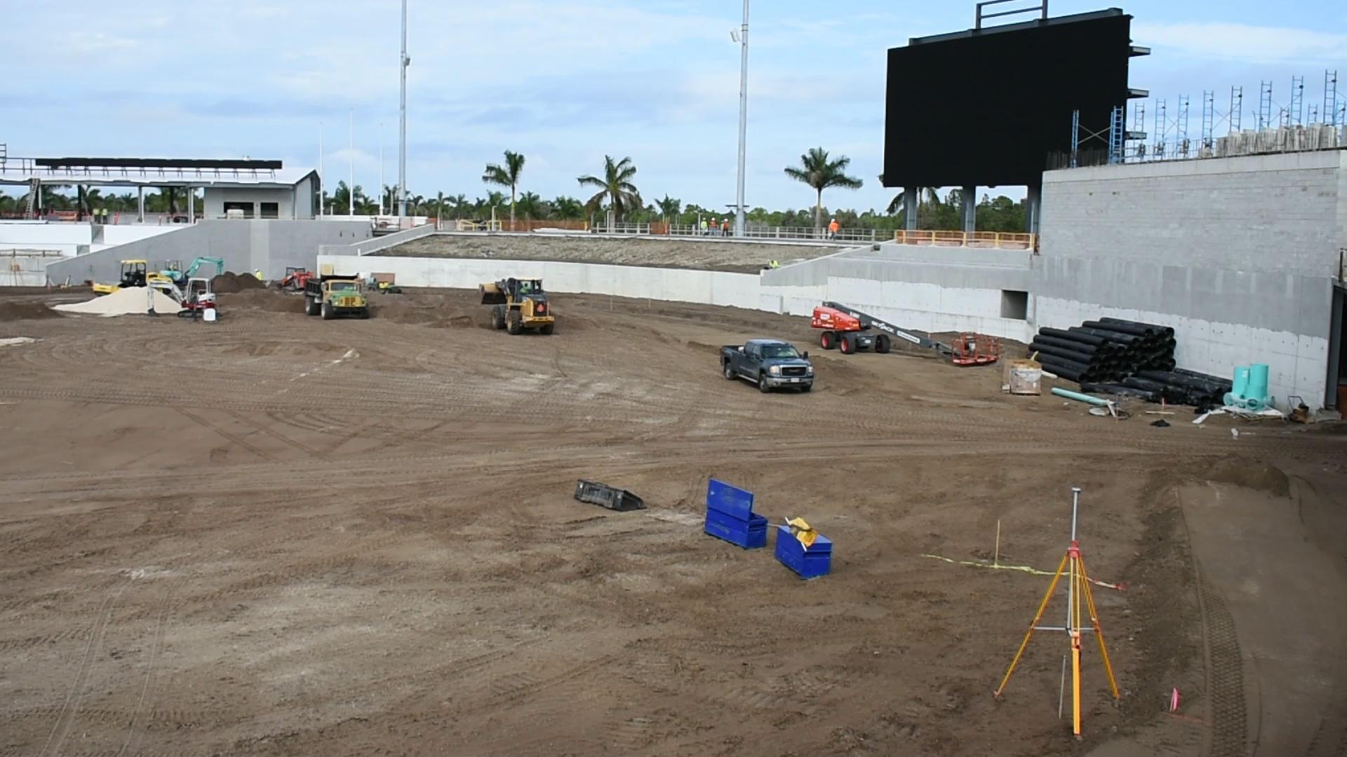 Construction Continues On Atlanta Braves Spring Training Park Field