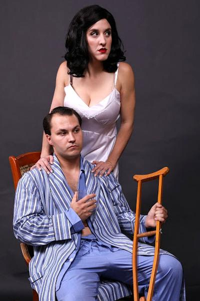 Margaret and Brick in 'Cat on a Hot Tin Roof'