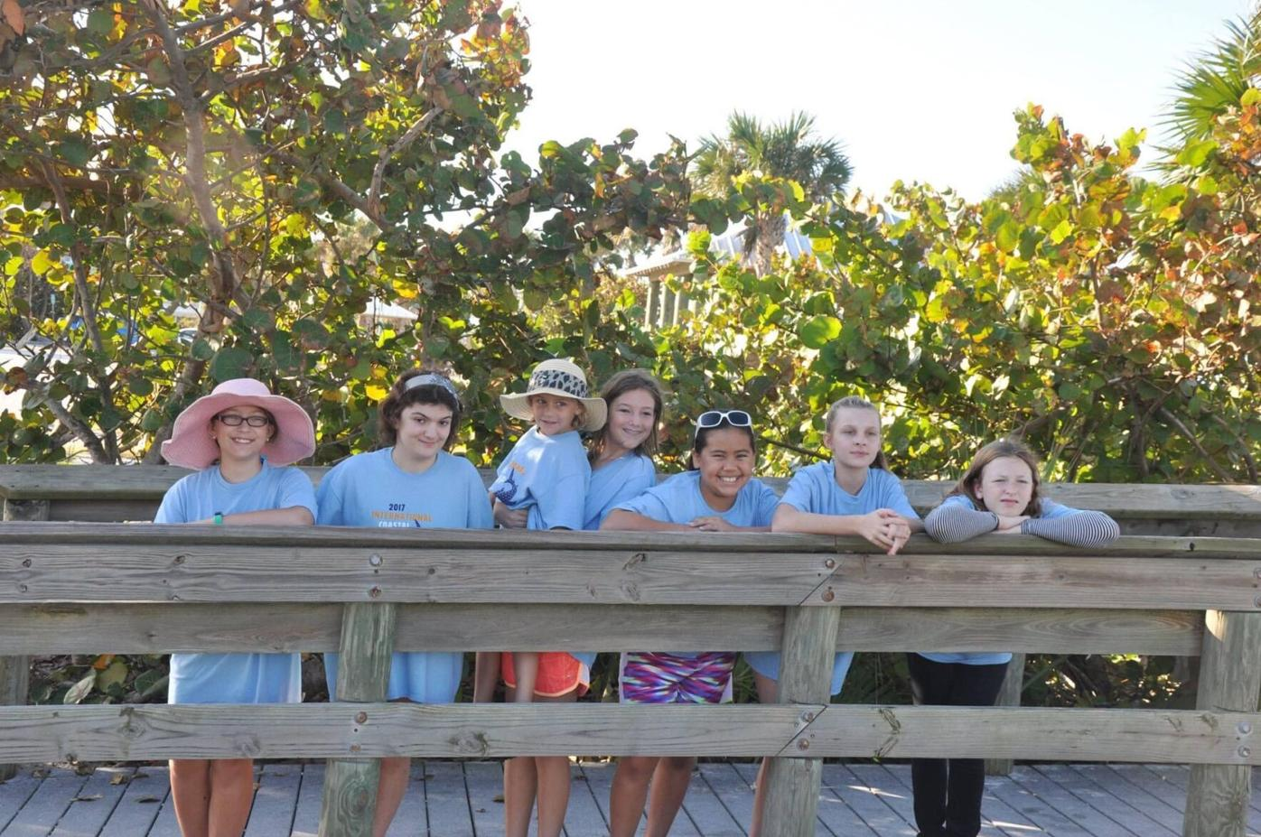 Girl Scouts of Englewood doing the International Coastal Cleanup