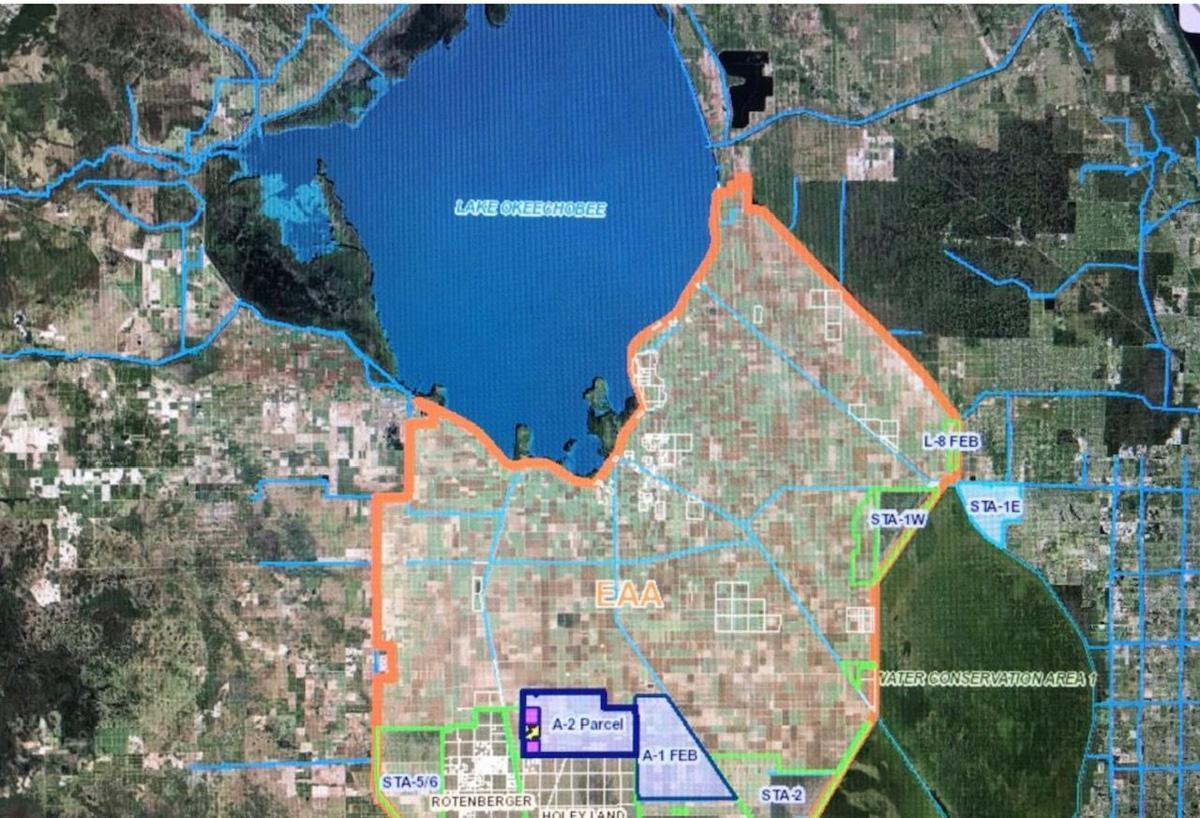 Lake O reservoir map