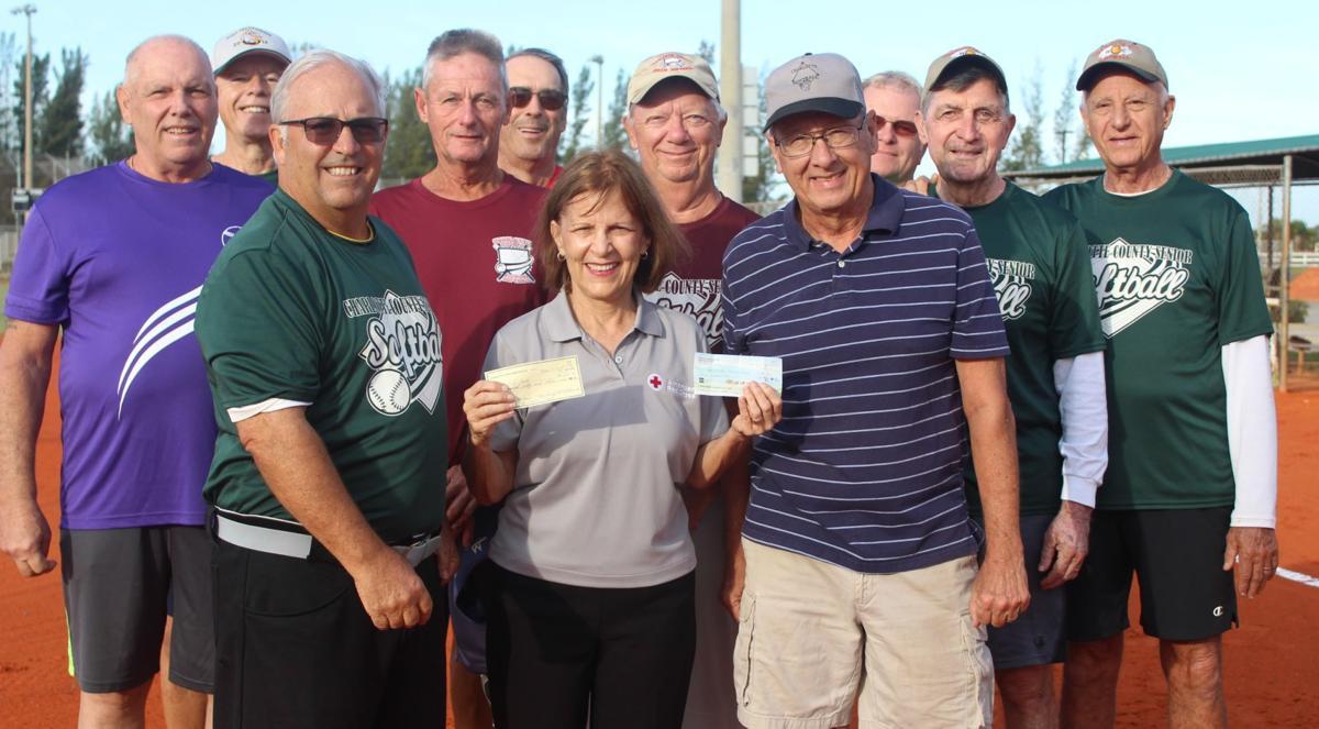 Senior Softball Leagues help Hurricane Victims