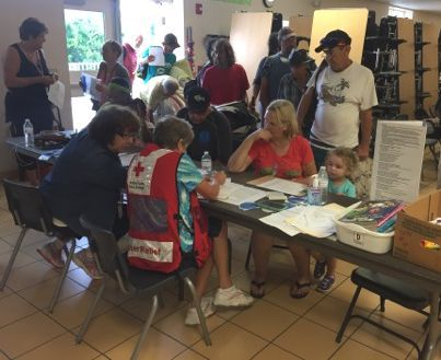 Irma Shelter check-in