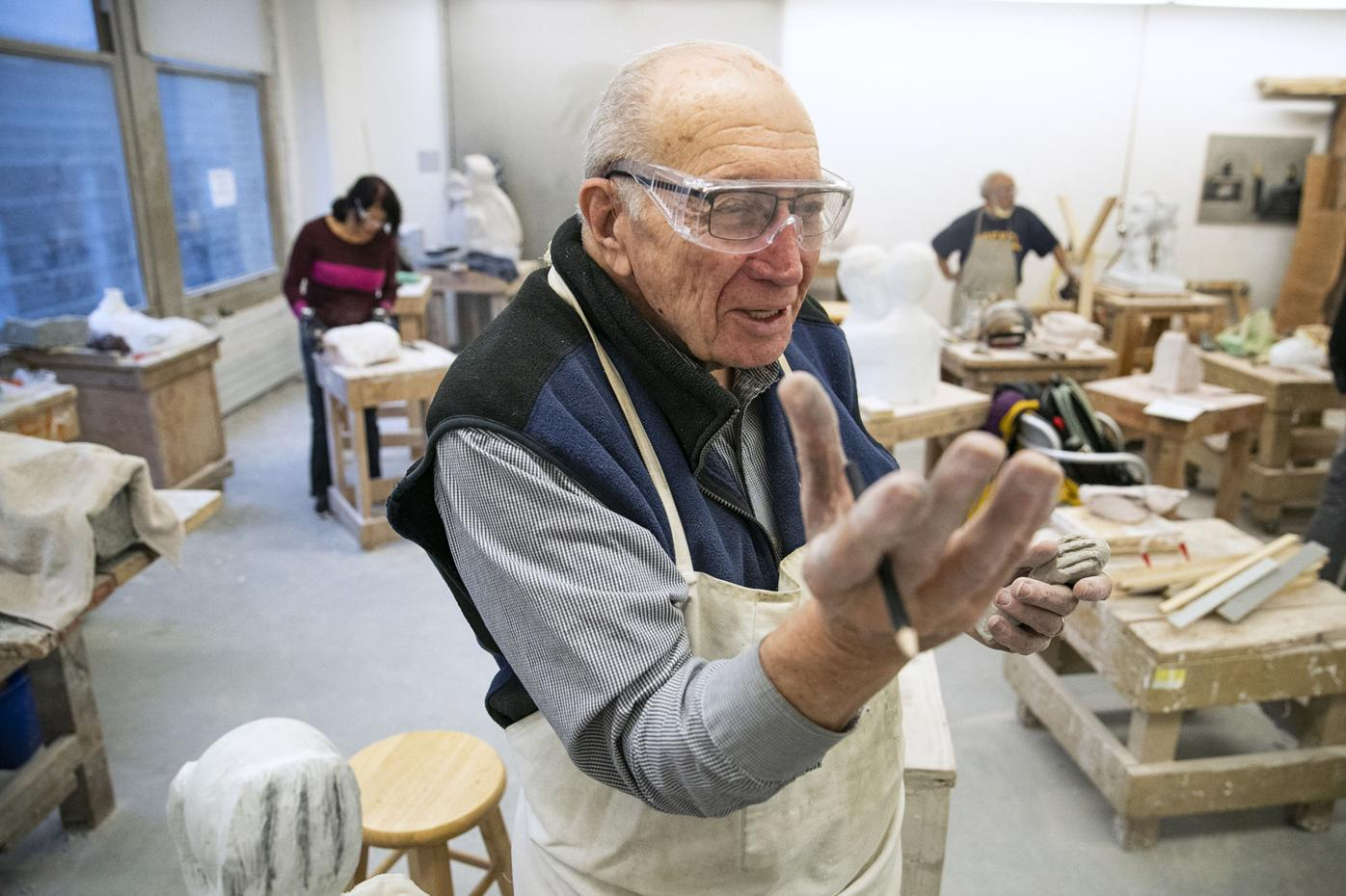 At 87, this physician to spinal cord injury patients finds hope in sculpting