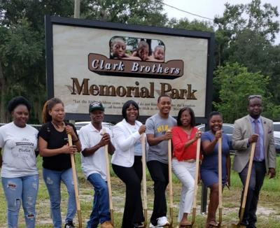 Pocket park honors Clark brothers