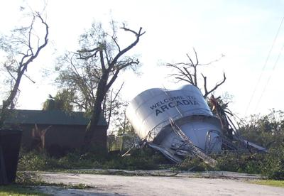 Charley damages much of Arcadia