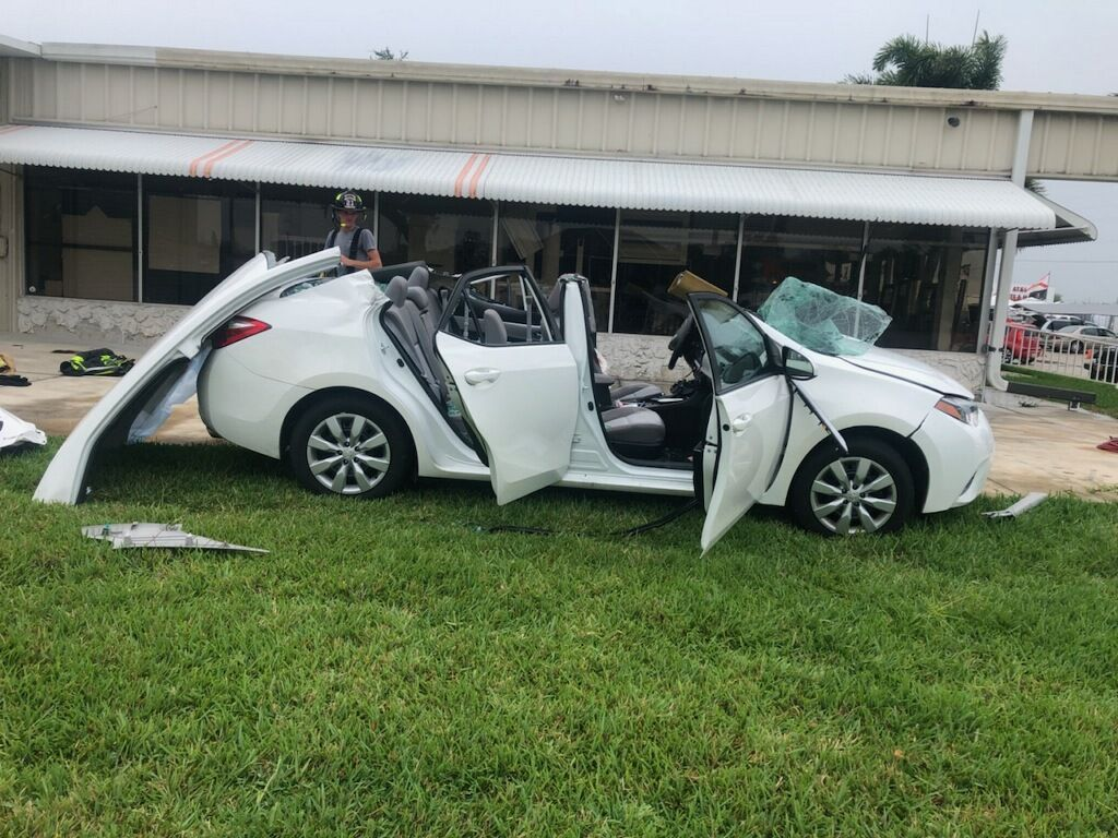 A car after an extrication