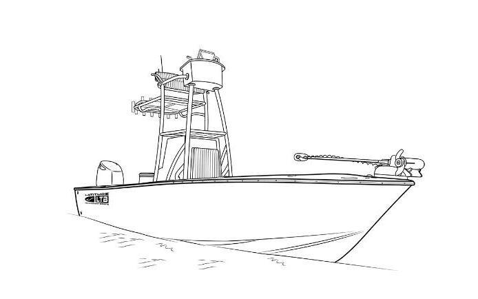 Latitude boat drawing