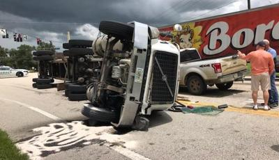Truck accident causing some back-ups