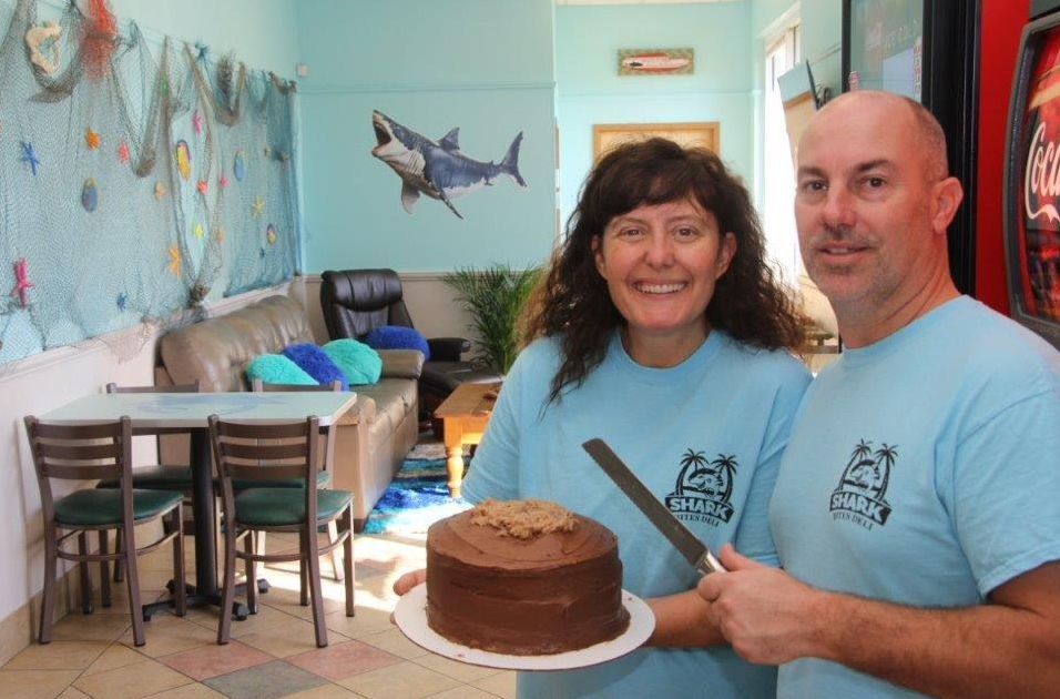 Shark Bites cake