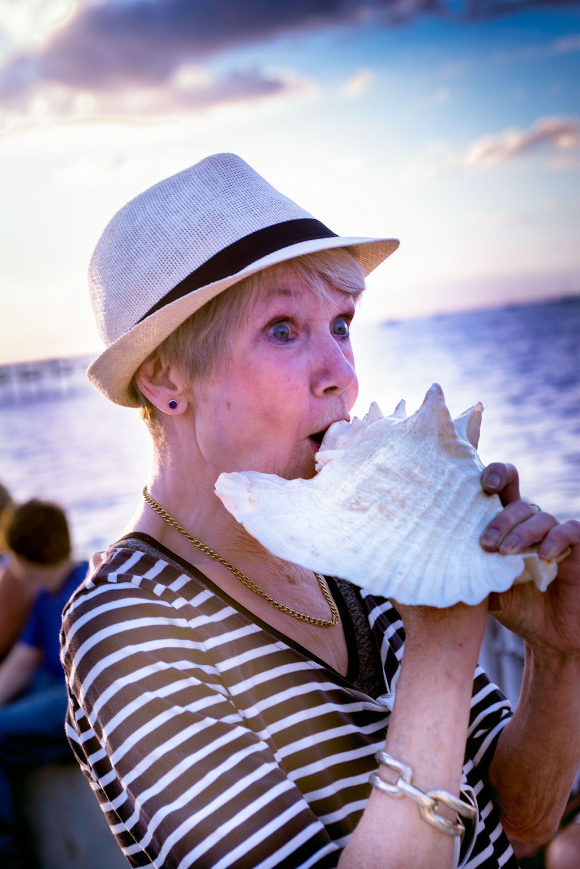 New Year's Eve Conch blow tradition held at Gilchrist Park