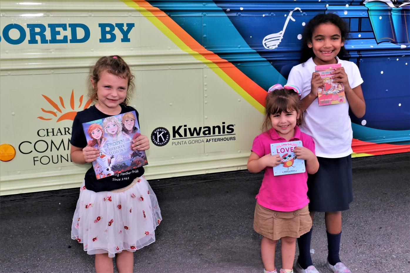 Local students get new books from Lizzy the Literacy Bus