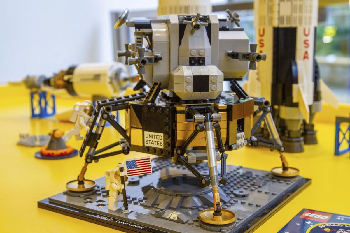 Lego model of Apollo 11 lunar lander